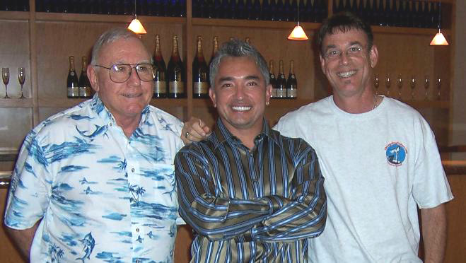 Marc's Father Barney, Dog Whisperer Cesar Millan and trainer Marc Goldberg, CDT
